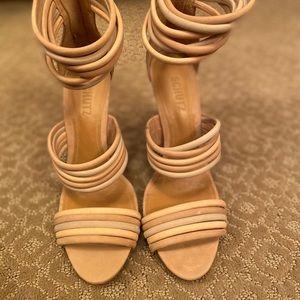 Schutz Tan Sandal Heels size 9 - never wore